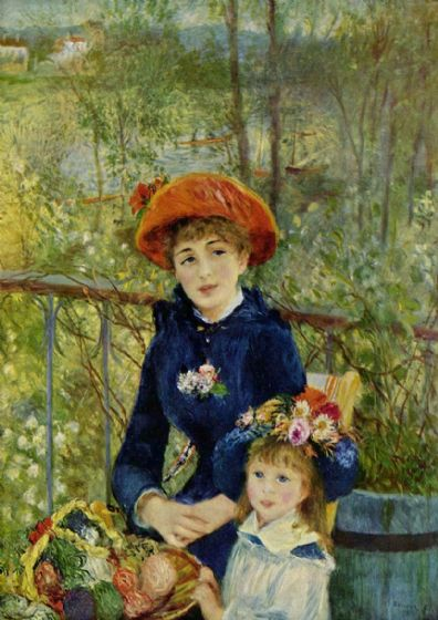 Renoir, Pierre Auguste: Two Sisters, or On The Terrace, 1881. Fine Art Print/Poster. Sizes: A4/A3/A2/A1 (001564)